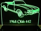 "1968 Oldsmobile 442 Olds Conv Lighted Led Sign 11-13"" Pla..."