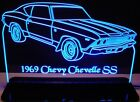 """1969 Chevelle SS Edge Lit Awesome 21"""" Lighted Sign Plaque..."""