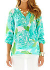 Lilly Pulitzer Elsa Top Shirt Blouse Poolside Blue L New