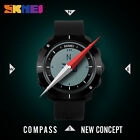 Skmei Men's Sports Wristwatches Compass Stopwatch Pu Strap Relogio Waterproof