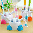 Cute Bathroom Toothpaste Toothbrush Holder Storage Organizer with Hourglass