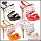 Women's High Heels Shoes Sexy Ladies Summer Casual Sandals Size 3,4,5,6,7 UK