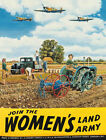 WOMAN'S LAND ARMY FARM TRACTOR RAF SPITFIRE METAL PLAQUE TIN SIGN NOSTALGIC 420
