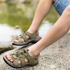 Men Leather Outdoor Casual Sprot Beach Shoes Open Toe Fisherman Slippers Sandals