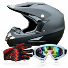 motorcycle helmets goggles - Unisex Adult Motorcycle FS945 ATV Dirt Bike DOT Approved Helmets+Goggles+Gloves