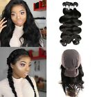 Pre Plucked 360 Lace Band Frontal With Cap + 3Bundles/300g Peruvian Body Wave
