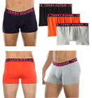 "Tommy Hilfiger Mens Boxer Trunks""Cotton Stretch"",3-Pack,Black&Gray&Orange"