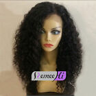 100% Brazilian Human Hair Soft Curly Full/Front Lace Wig baby hair 130% density