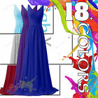 Long Chiffon Formal Gown Ball Wedding Evening Prom Party Bridesmaid Dresses
