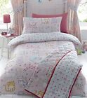 KIDS GIRLS BEDROOM BEDDING REVERSIBLE DUVET QUILT COVER SET CATS KITTENS DESIGN
