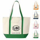Custom Canvas Boat Tote Bag - LBI Design Personalized with Your name
