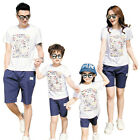 New casual Summer family mother  daughter father son sets cotton Family Outfits