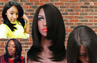 Synthetic Lace Front Wigs Yaki Straight for Black Women Heat Resistant Lace Wigs