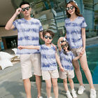 New Family Outfits mother Daughter father son Sets striated short T shirt Pants