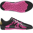 adidas Childrens Football Trainers Black Pink X 15.3 Artificial Turf Shoes