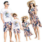 2017 Summer Family clothing Holiday woman girl dress father son Sets Sport