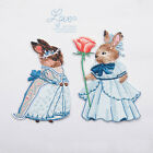 Lovely Bunny Prince Princess Iron On Applique Patch