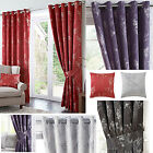 Tokyo 3 Pass Blackout Ring Top Curtains Black, Plum, Red, Silver 8 Sizes - Smart