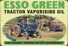 ESSO GREEN TRACTOR ENGINE OIL - VINTAGE NOSTALGIC STYLE SIGN METAL PLAQUE 314