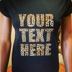 LEOPARD PRINT-Ladies-High Quality-T-Shirts-Custom-SIZE GUIDE-Fast&Free Delivery!