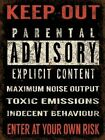 KEEP OUT PARENT NOTICE TEENAGER BEDROOM WARNING METAL SIGN TIN WALL PLAQUE 483