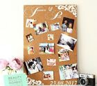 Large personalised cork board notice board Weddings and Events photo backdrop