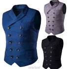 Mens Slim Fit Business Casual Premium Vest Waistcoat Double Breasted Waistcoat