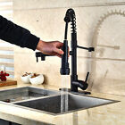Oil Rubbed Bronze Kitchen Faucet Vessel Sink Swivel Spout Single Hole Mixer Tap