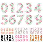 "2 x 7"" Vinyl Wheelie Bin House Numbers Adhesive Wheely Waterproof Stickers"