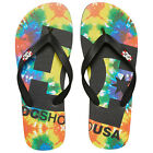 DC NEW Mens Black Spray Graffik Flip Flops BNWT