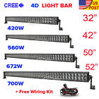 "4D CREE 32inch/42""/50""/52""inch 4"" 18W LED Work Light Bar Offroad Driving ATV 4WD"