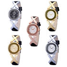 NEW Waterproof Women X Style Leather Stainless Steel Bracelet Dress Quartz Watch