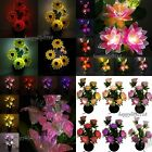 Colorful Flower Changing Potted LED Fiber Optic Night Light Lamp Home Wedding