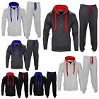 Boys Joggers Hooded Zip Hoodie Football Full Tracksuit Top Bottoms Age 7-13 Yrs