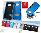LG Phone Shockproof HYBRID Rubber Silicone Hard Rugged TPU Case Cover with Stand