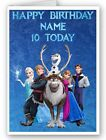 LARGE A5 PERSONALISED FROZEN BIRTHDAY CARD + WHITE ENVELOPE + cello bag !