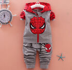 2pcs Toddler Spider Baby Boys Kids Shirt Tops Long Pants Clothes Outfits Set