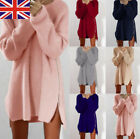 Women Winter Long Sleeve Jumper Tops Knitted Sweater Loose Tunic Mini Dresses
