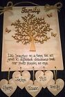 MOTHER'S DAY GIFT......Handmade, wooden FAMILY TREE  plaque ....keepsake