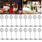 Lot Round Wedding Party Name Table Number Place Card Photo Holder Favor Clips