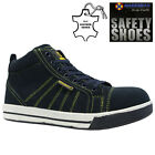 MENS LEATHER STEEL TOE CAP SAFETY WORK HIKER ANKLE BOOTS SHOES TRAINERS SIZE