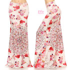 Elegant Floral Sublimation high waist maxi long skirt (S/M/L/XL/1XL/2XL/3XL )
