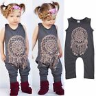 Infant Kid Baby Girls Boy One-Piece Sleeveless Jumpsuit Romper Playsuit Bodysuit
