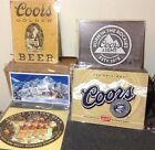 COORS BREWING COMPANY Light Vintage Tin Sign Garage Bar Decor Old Rustic