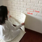 3D Effect Stone Brick Wall Sticker Textured Vinyl Wallpaper Self-adhesive Safe