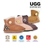 Kids UGG Boots - Child Mini Button,Premium Australian Sheepskin, Non-Slip