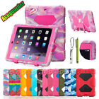 For New Ipad 9.7 Mini 1/2/3 Case Kids Shockproof Defender Rugged Cover Free Gift