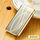 Rechargeable USB Shake Plasma Electric Dual Arc Windproof Lighter Gifts New