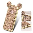 Bling Paillettes Soft TPU Mickey Ear Protective Cover For iPhone 5 6 6s 7 7 Plus