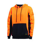 New Diadora Hivis Pull Over Hoodie GUMW1451 With Low Pilling Brushed Fleece And